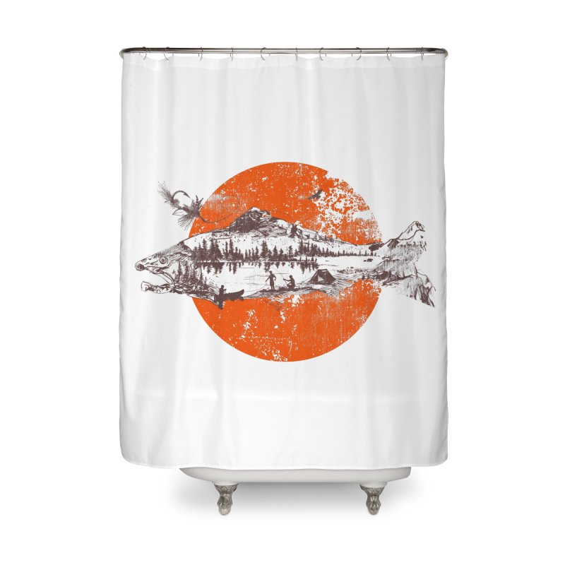 The Mountains Are Calling Home Shower Curtain by Jemae's Design