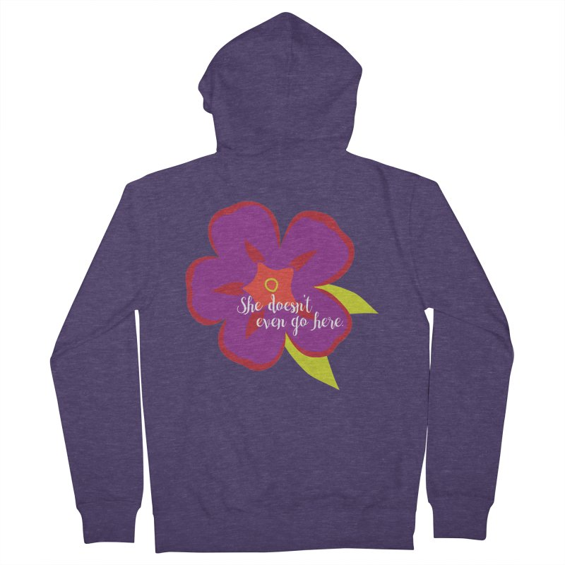 She Doesn't Even Go Here Men's Zip-Up Hoody by jenbachelder's Artist Shop
