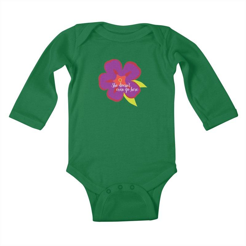 She Doesn't Even Go Here Kids Baby Longsleeve Bodysuit by jenbachelder's Artist Shop