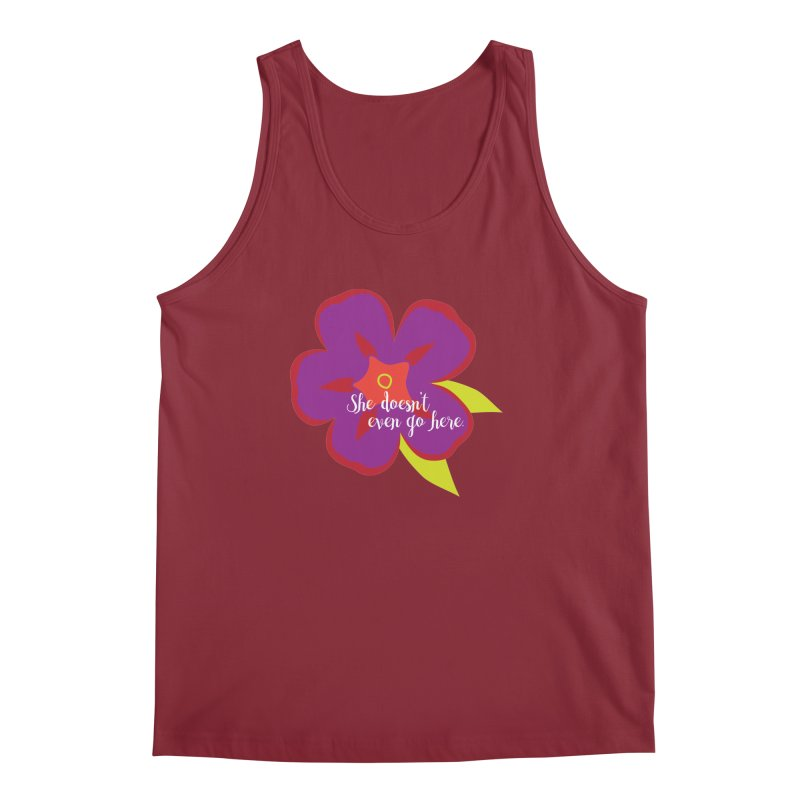 She Doesn't Even Go Here Men's Tank by jenbachelder's Artist Shop