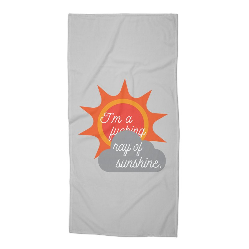 I'm a Ray of Sunshine Accessories Beach Towel by jenbachelder's Artist Shop