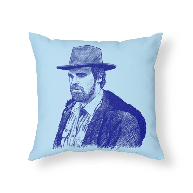 Hopper Home Throw Pillow by jenbackman's Artist Shop