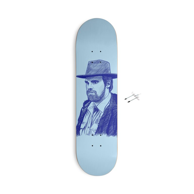 Hopper Accessories With Hanging Hardware Skateboard by jenbackman's Artist Shop