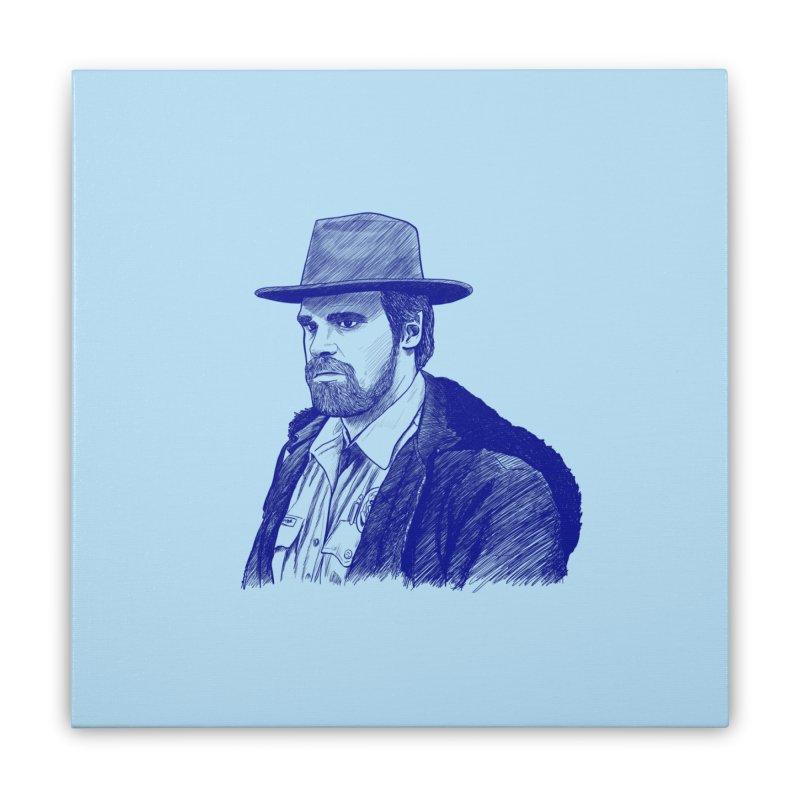 Hopper Home Stretched Canvas by jenbackman's Artist Shop