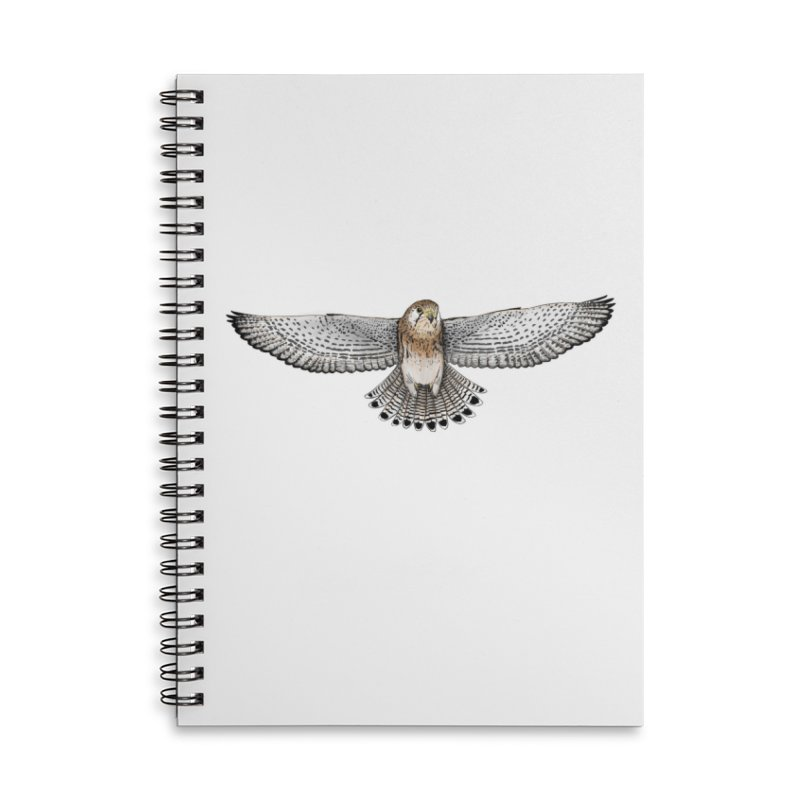 Kestrel Accessories Lined Spiral Notebook by jenbackman's Artist Shop