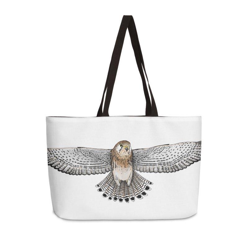 Kestrel Accessories Weekender Bag Bag by jenbackman's Artist Shop