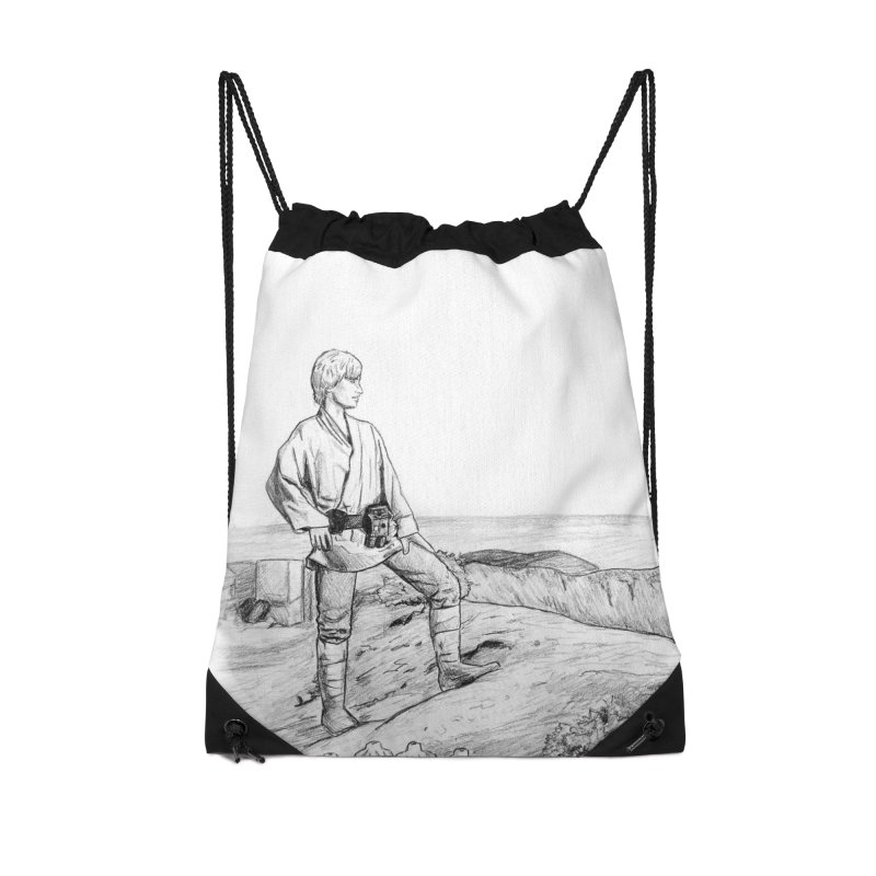 Luke Accessories Drawstring Bag Bag by jenbackman's Artist Shop