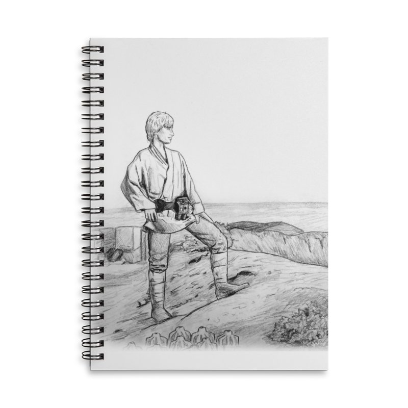 Luke Accessories Lined Spiral Notebook by jenbackman's Artist Shop
