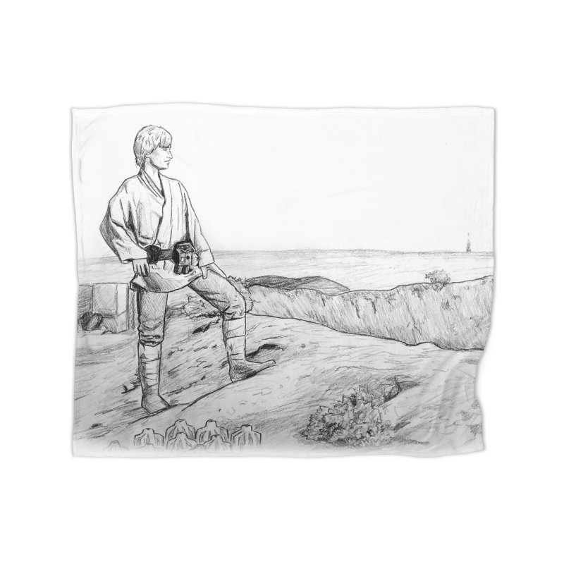 Luke Home Fleece Blanket Blanket by jenbackman's Artist Shop