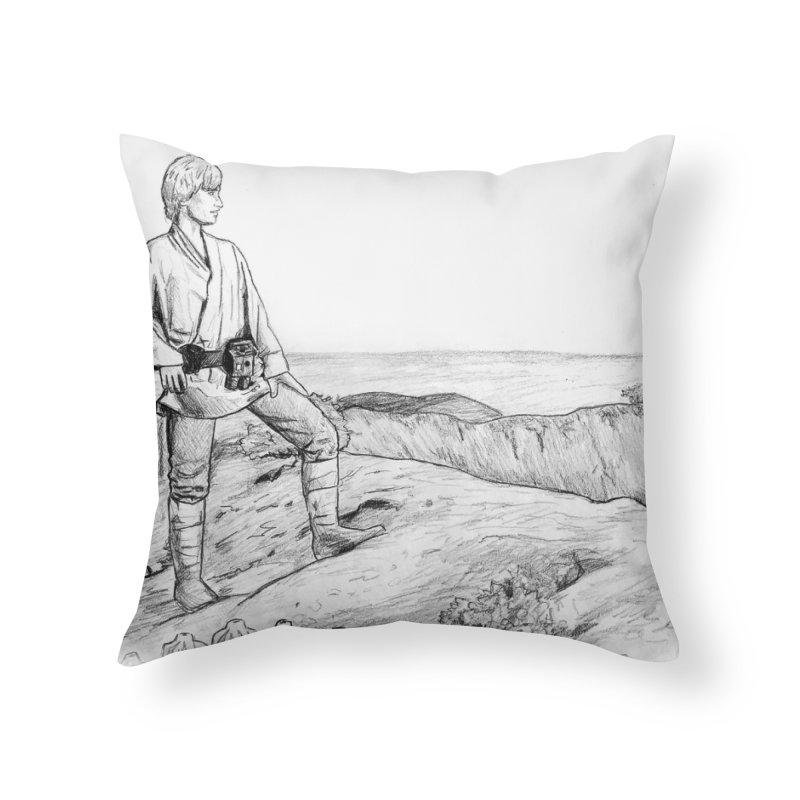 Luke Home Throw Pillow by jenbackman's Artist Shop