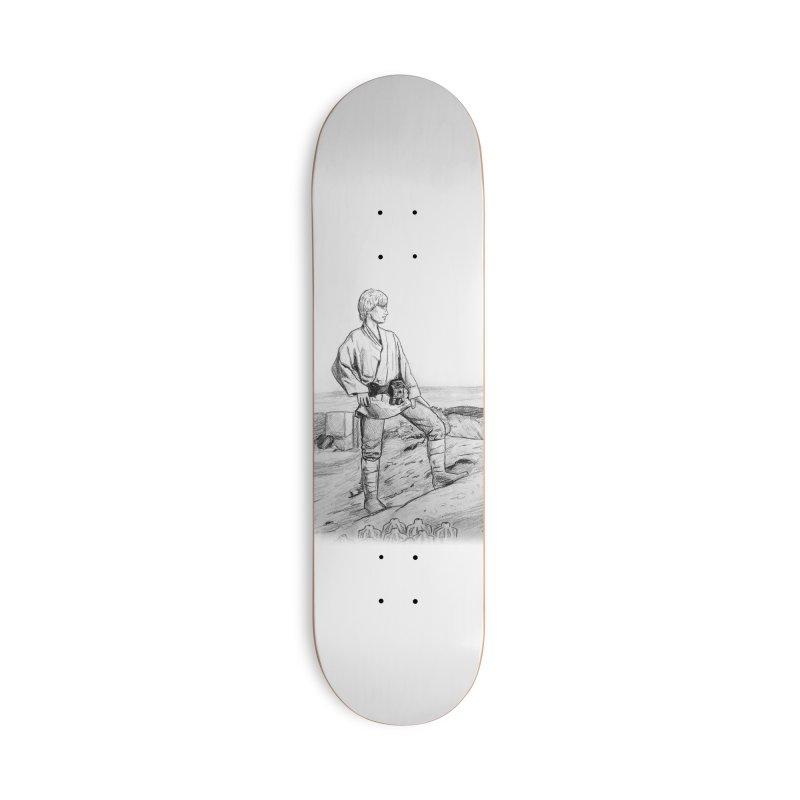 Luke Accessories Deck Only Skateboard by jenbackman's Artist Shop