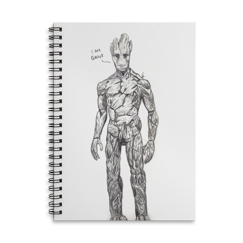 I am Groot Accessories Lined Spiral Notebook by jenbackman's Artist Shop