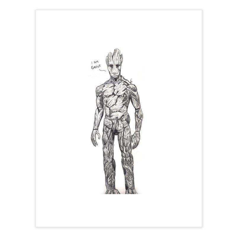 I am Groot Home Fine Art Print by jenbackman's Artist Shop