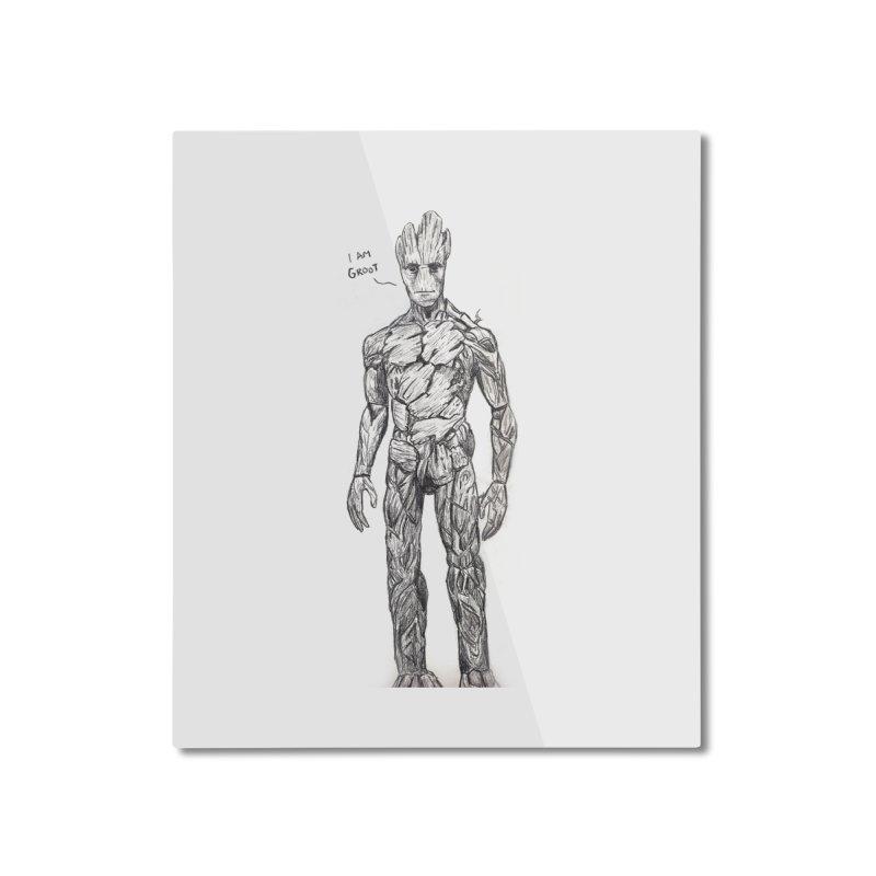 I am Groot Home Mounted Aluminum Print by jenbackman's Artist Shop