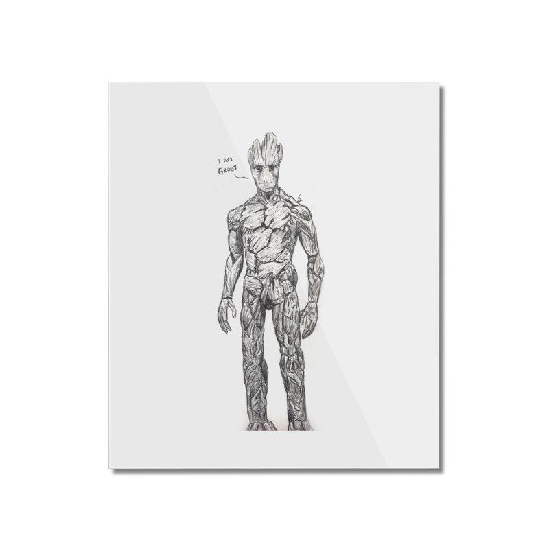 I am Groot Home Mounted Acrylic Print by jenbackman's Artist Shop