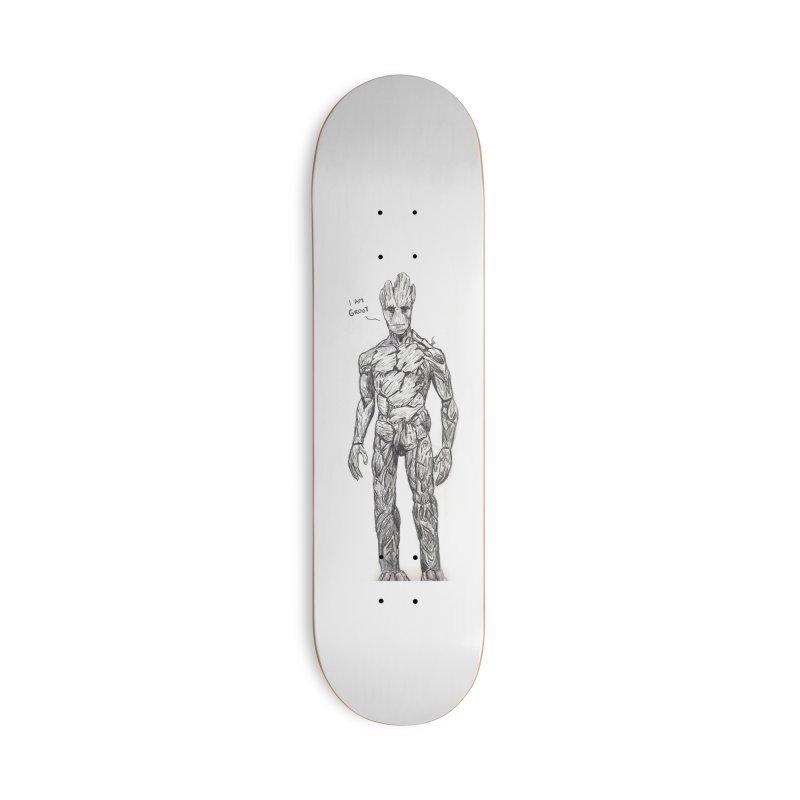 I am Groot Accessories Deck Only Skateboard by jenbackman's Artist Shop