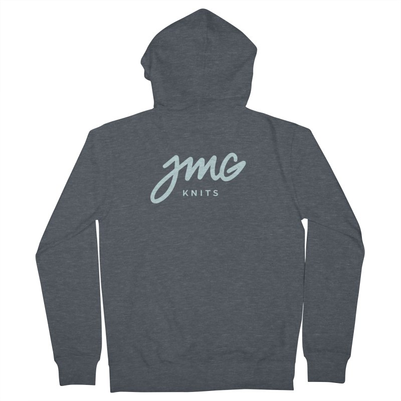 JMG Knits Logo Tee Men's Zip-Up Hoody by Jen Marquez Ginn's Shop