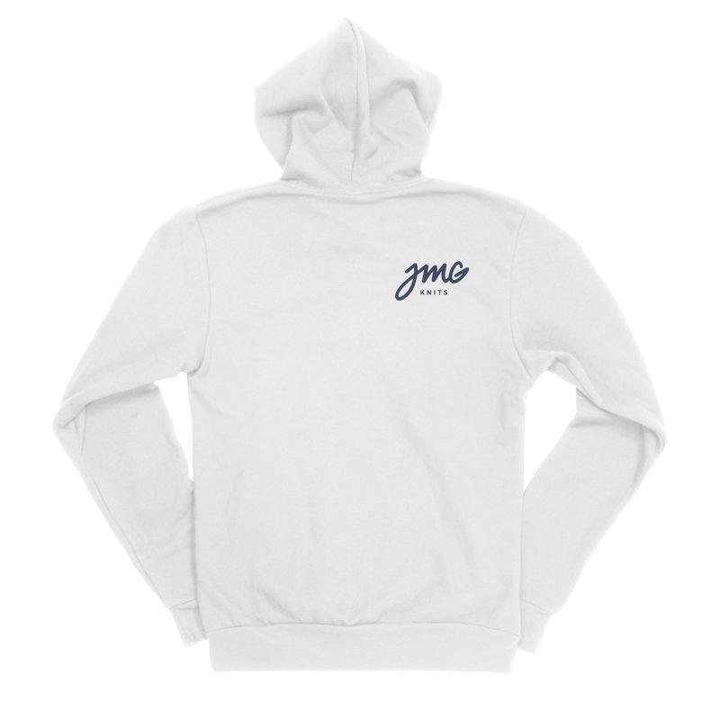 JMG Knits Pocket Logo Tee Men's Zip-Up Hoody by Jen Marquez Ginn's Shop