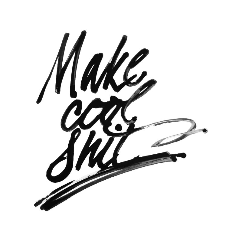 Make Cool Shit Accessories Sticker by Jen Marquez Ginn's Shop