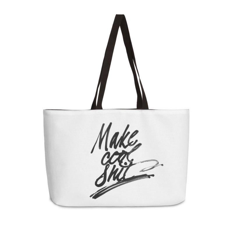 Make Cool Shit Accessories Bag by Jen Marquez Ginn's Shop