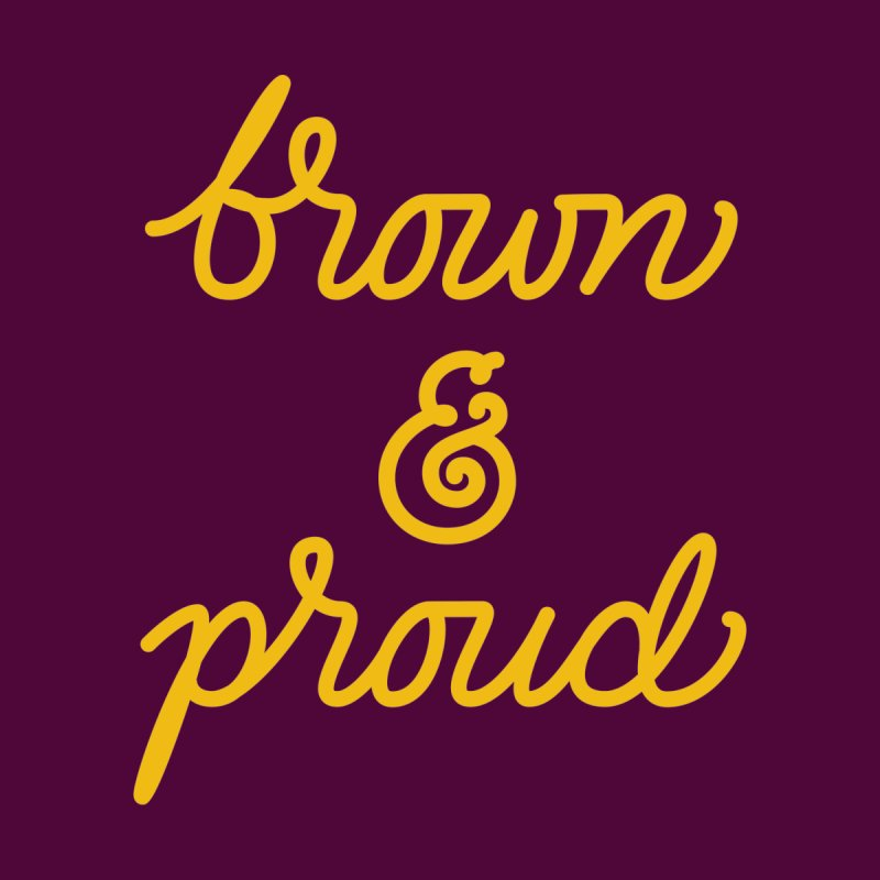 Brown & Proud Accessories Bag by Jen Marquez Ginn's Shop