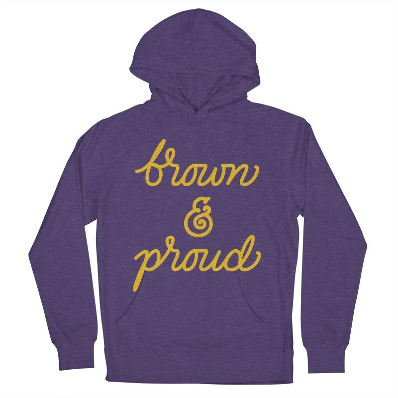 Brown & Proud Men's Pullover Hoody by Jen Marquez Ginn's Shop