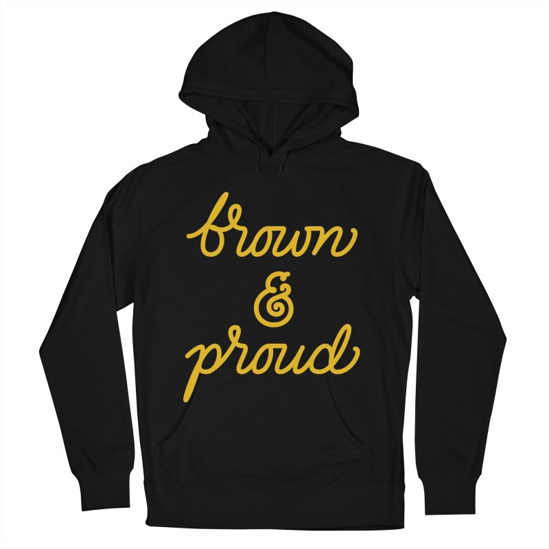 Brown & Proud Men's French Terry Pullover Hoody by Jen Marquez Ginn's Shop