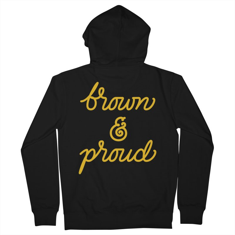 Brown & Proud Men's French Terry Zip-Up Hoody by Jen Marquez Ginn's Shop