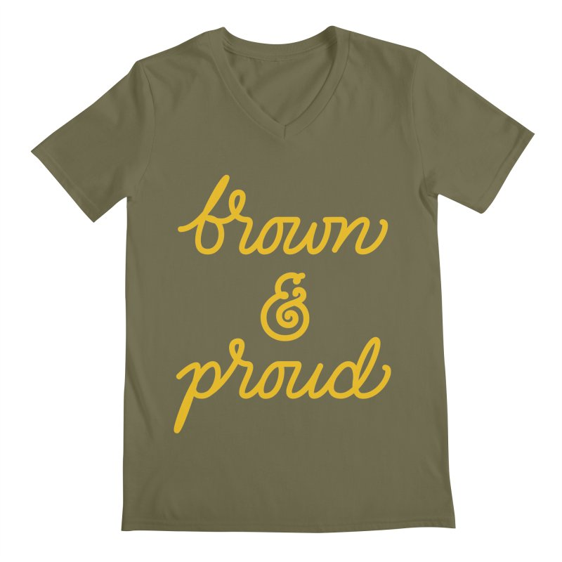 Brown & Proud Men's V-Neck by Jen Marquez Ginn's Shop