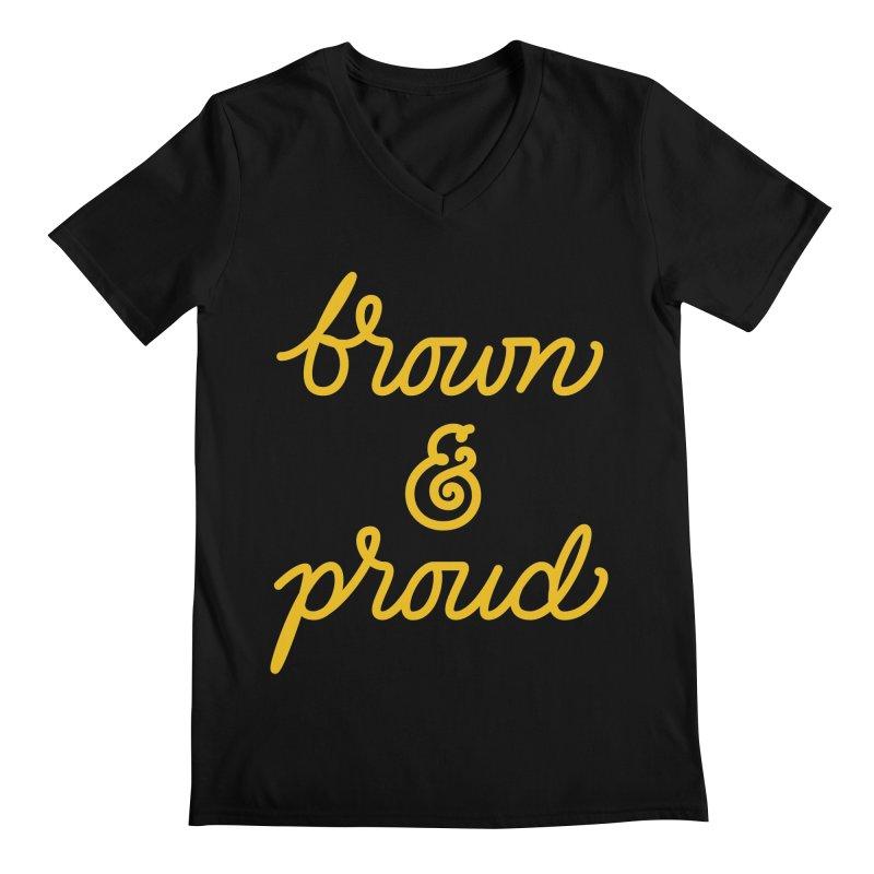 Brown & Proud Men's Regular V-Neck by Jen Marquez Ginn's Shop