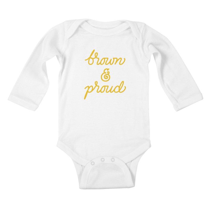 Brown & Proud Kids Baby Longsleeve Bodysuit by Jen Marquez Ginn's Shop