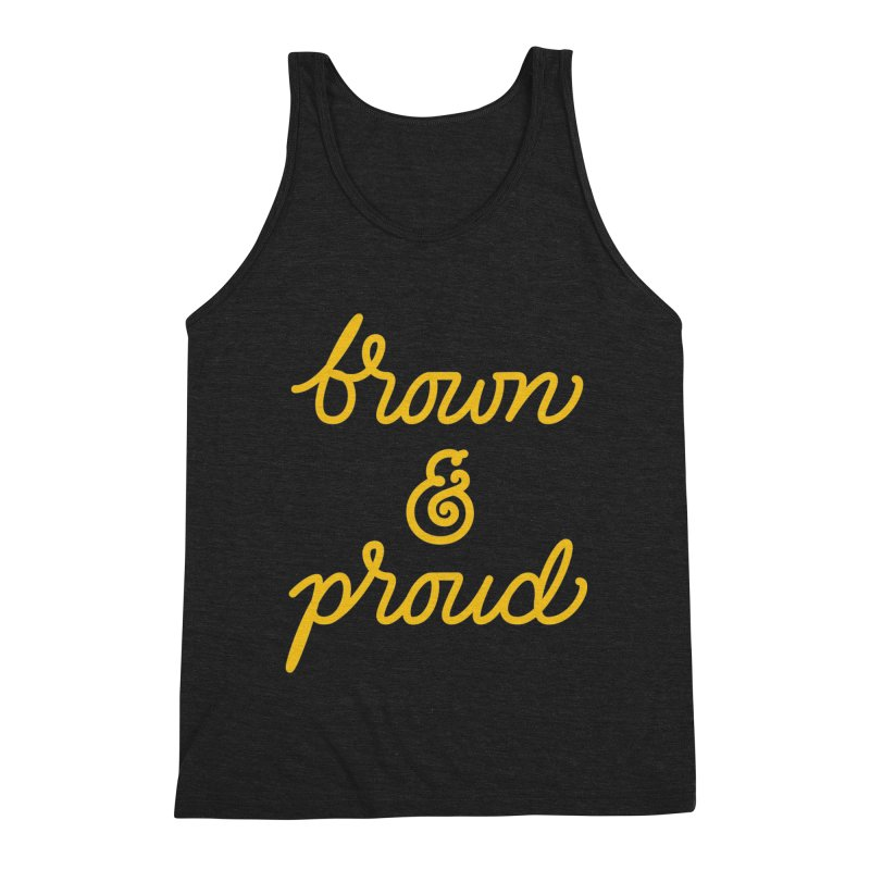 Brown & Proud Men's Triblend Tank by Jen Marquez Ginn's Shop