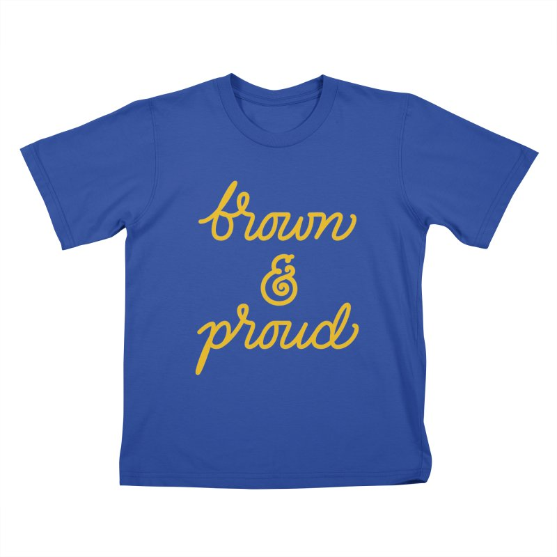 Brown & Proud Kids T-Shirt by Jen Marquez Ginn's Shop