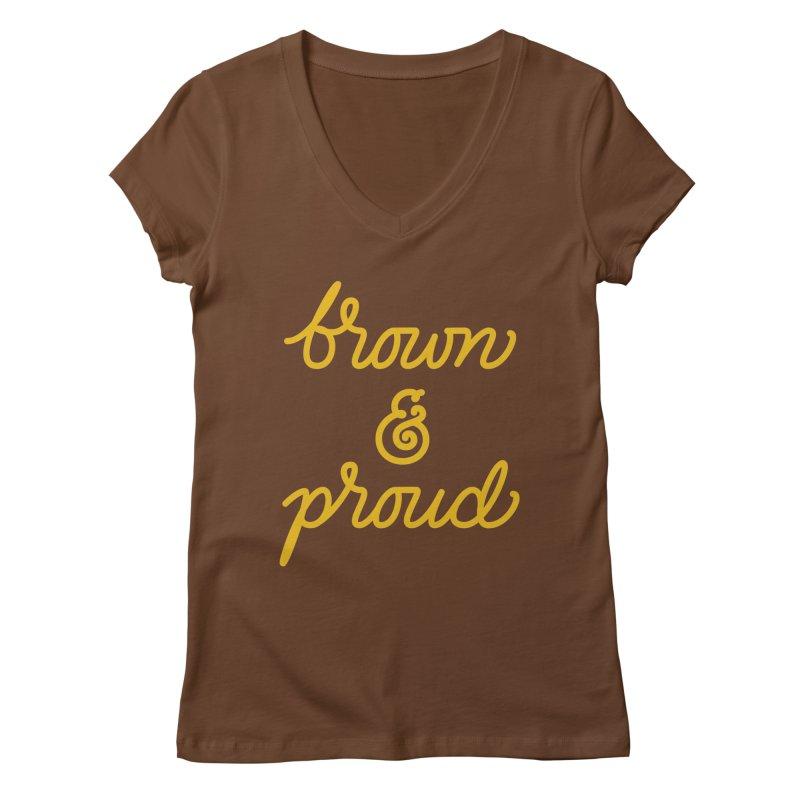 Brown & Proud Women's V-Neck by Jen Marquez Ginn's Shop