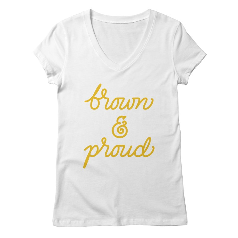 Brown & Proud Women's V-Neck by Jen Marquez Ginn's Shop