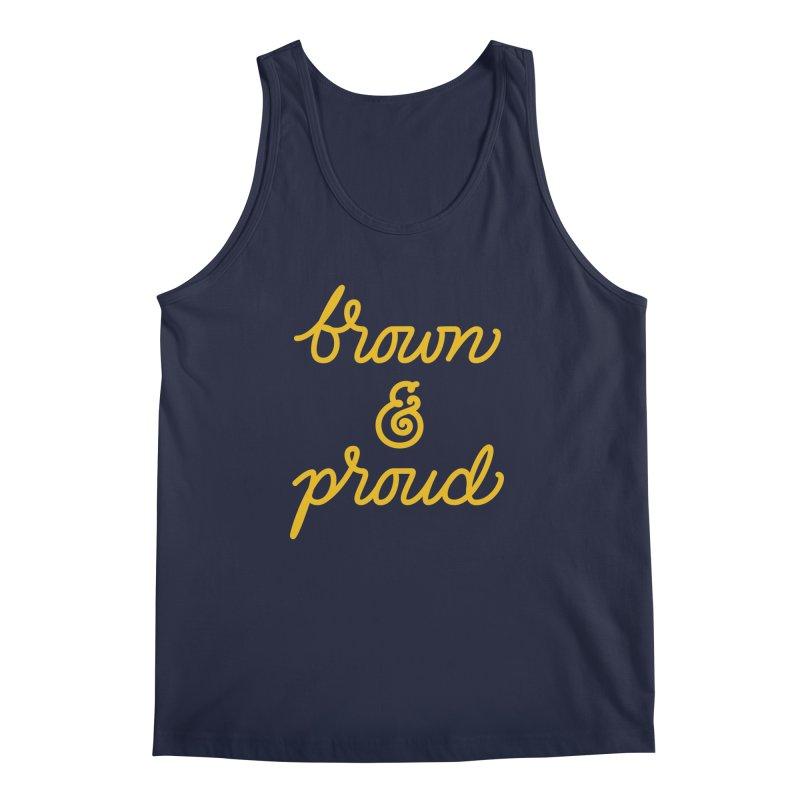 Brown & Proud Men's Regular Tank by Jen Marquez Ginn's Shop