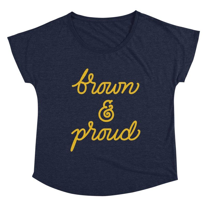 Brown & Proud Women's Scoop Neck by Jen Marquez Ginn's Shop