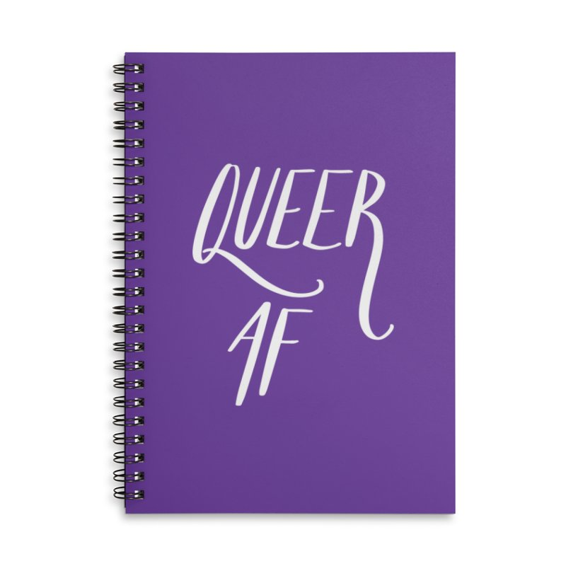 Queer AF Accessories Lined Spiral Notebook by Jen Marquez Ginn's Shop