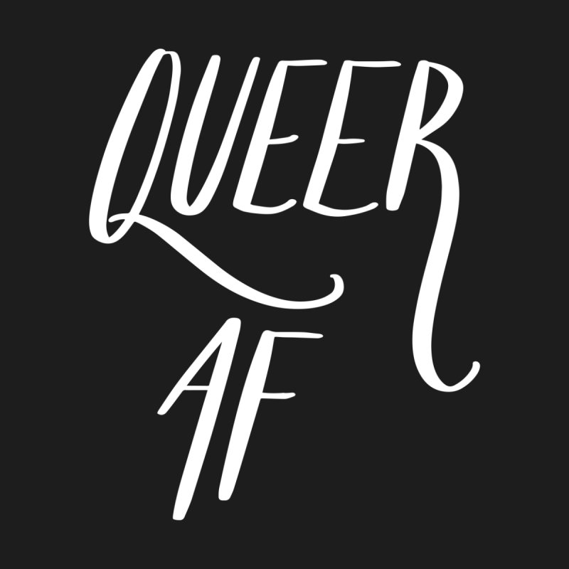 Queer AF Home Throw Pillow by Jen Marquez Ginn's Shop