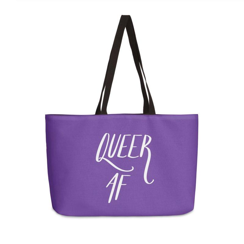 Queer AF Accessories Weekender Bag Bag by Jen Marquez Ginn's Shop