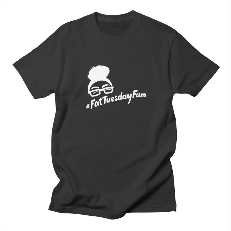 #FatTuesdayFam Fan Art - White Men's  by Jen Marquez Ginn's Shop