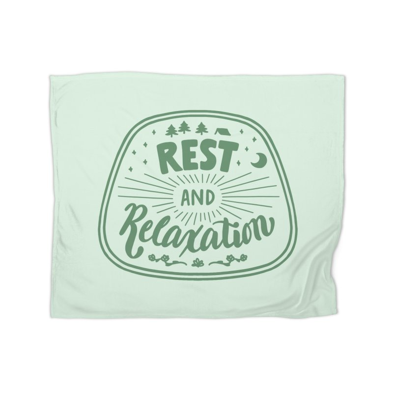 Rest and Relaxation Home Fleece Blanket Blanket by Jen Marquez Ginn's Shop