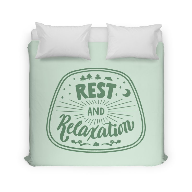 Rest and Relaxation Home Duvet by Jen Marquez Ginn's Shop