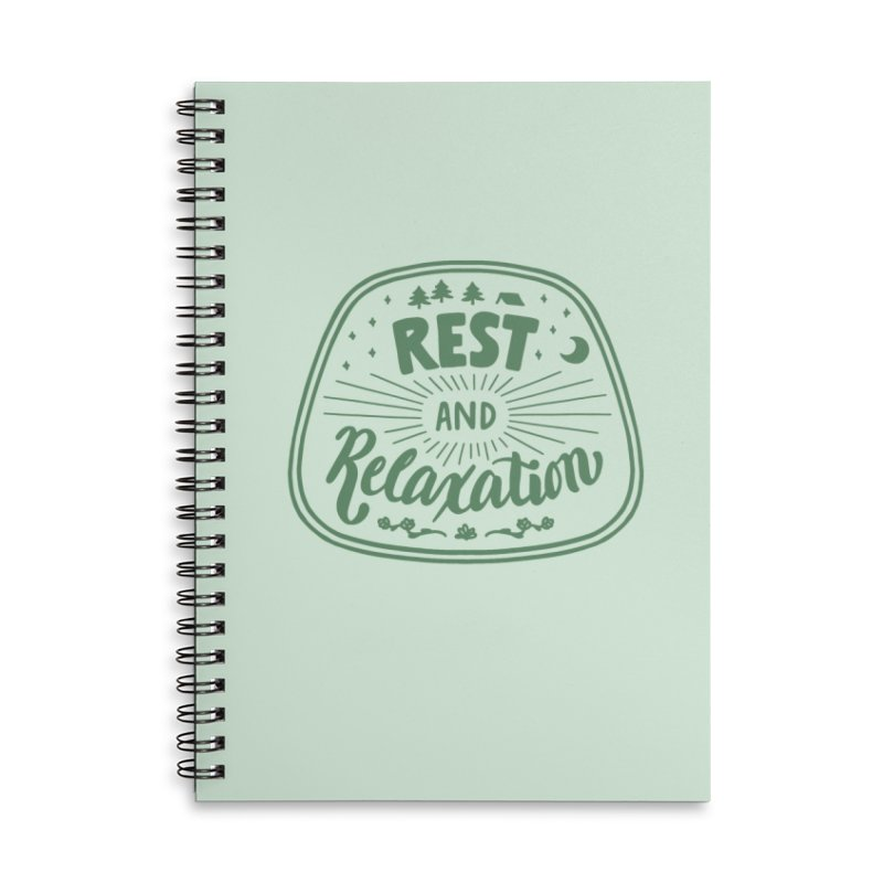 Rest and Relaxation Accessories Lined Spiral Notebook by Jen Marquez Ginn's Shop