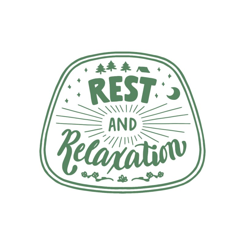 Rest and Relaxation Accessories Beach Towel by Jen Marquez Ginn's Shop