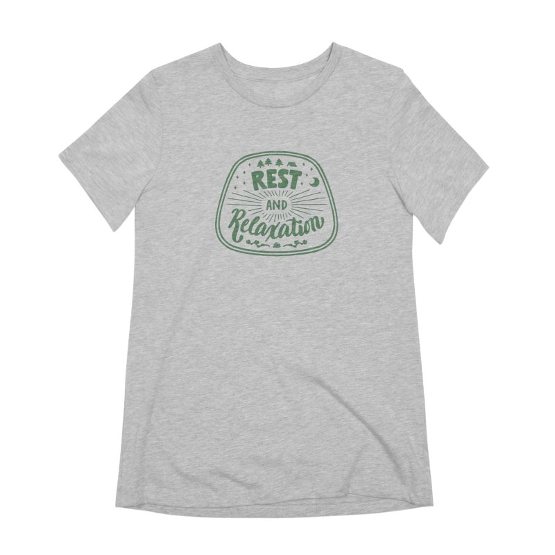 Rest and Relaxation Women's Extra Soft T-Shirt by Jen Marquez Ginn's Shop