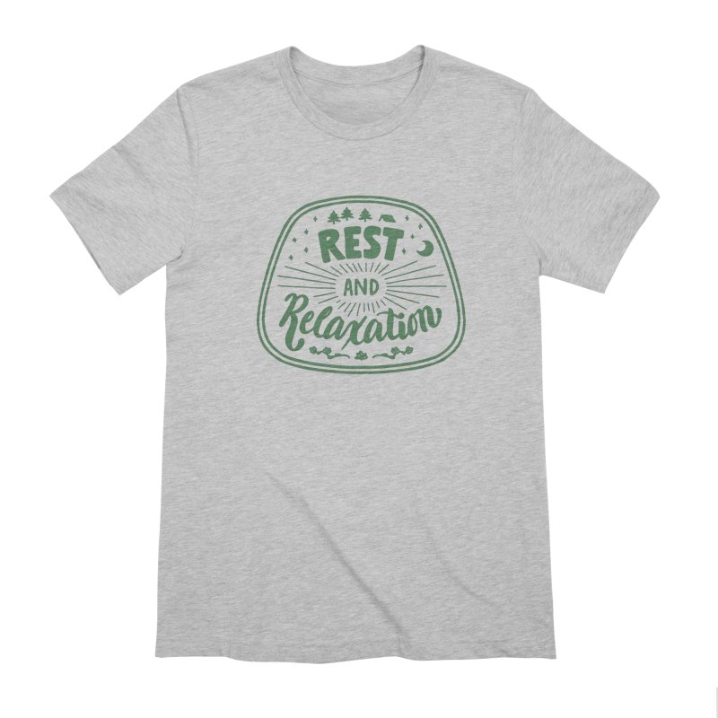 Rest and Relaxation Men's Extra Soft T-Shirt by Jen Marquez Ginn's Shop