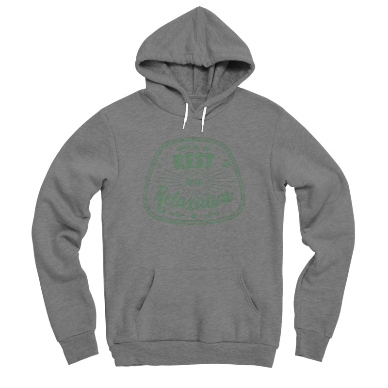 Rest and Relaxation Men's Sponge Fleece Pullover Hoody by Jen Marquez Ginn's Shop