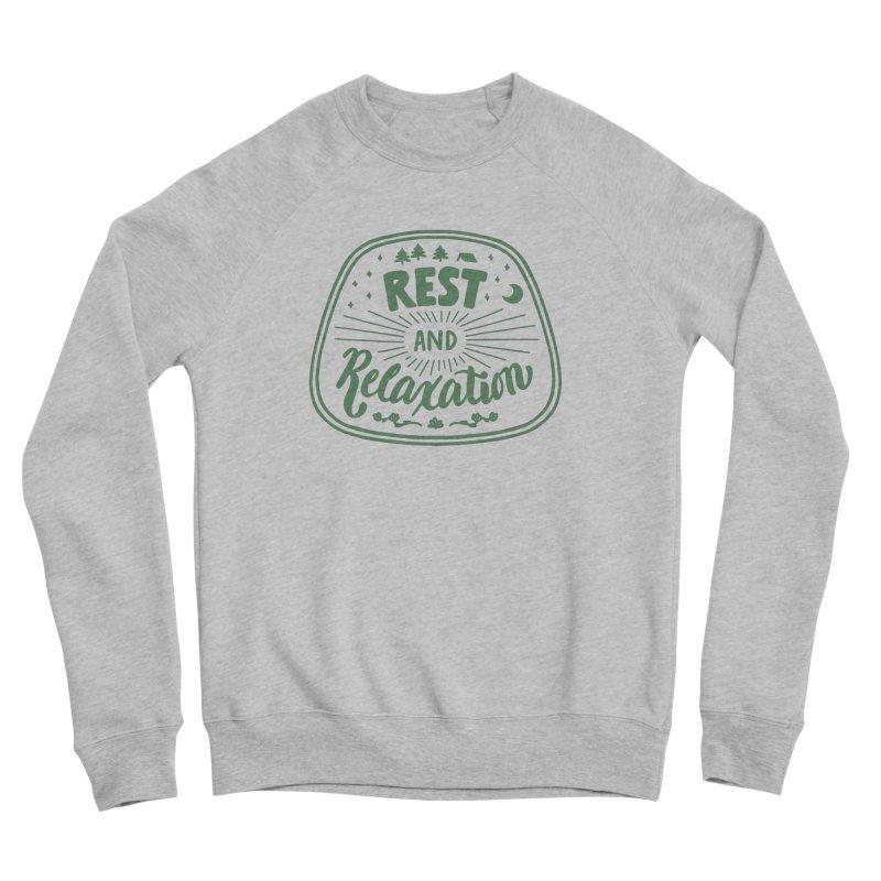 Rest and Relaxation Men's Sponge Fleece Sweatshirt by Jen Marquez Ginn's Shop