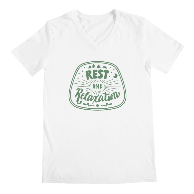 Rest and Relaxation Men's V-Neck by Jen Marquez Ginn's Shop